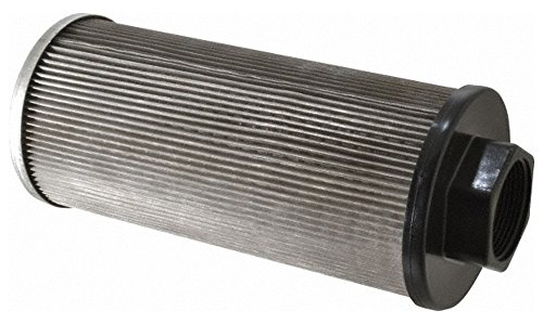 "100 Mesh, 114 LPM, 30 GPM, 4.3"" Diam, Female Suction Strainer without Bypass, 1-1/2 Port NPT, 9.8"" Long -  Flow Ezy Filters"