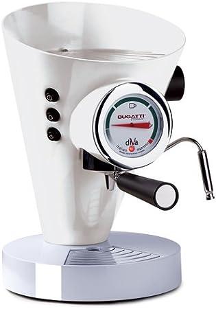 Bugatti Italy Diva Independiente Manual Máquina espresso 0.8L Cromo, Color blanco - Cafetera (Independiente, Máquina espresso, 0,8 L, Dosis de café, De café molido, 950 W, Cromo, Blanco)