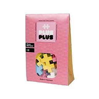 PLUS PLUS BIG - Open Play Set - 20 Piece - Pastel Color Mix, Construction Building Stem Toy, Interlocking Large Puzzle Blocks for Toddlers and Preschool