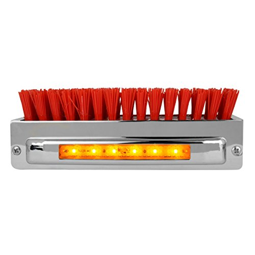 Grand General 98985 Chrome Aluminum Boot Caddie with Red Brush and Amber/Clear 6 LED Light ()