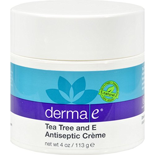 Derma E Tea Tree and E Antiseptic Creme - Antifungal and Natural antiseptic - 4 oz (Pack of 3) (Antifungal Creme)