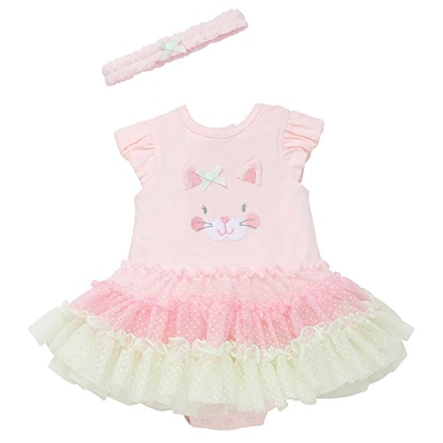 Little Me Tutu Popover Dress with Headband for Baby Girls (18 Months, Pink Multi)