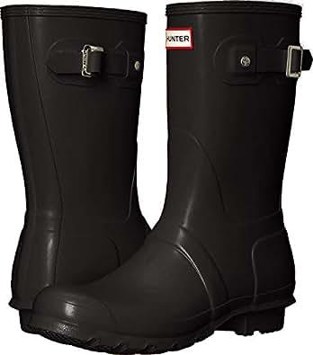 Hunter Original Short Women's Boots, Black, 5 US