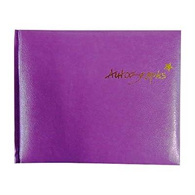 Talon Autograph Book - Purple - 120 Pages - Size 4.7' x 5.7': Toys & Games
