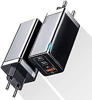 Baseus USB C Ladegerät65W mit GaN Tech 2 PD 3.0 Ports + QC 3.0 USB A, USB-C-Wandladegerät Kompatibel mit MacBook, USB C...