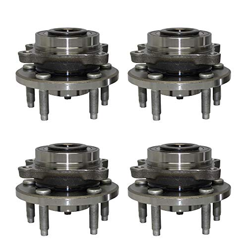 (Detroit Axle - Front Wheel Bearing and Rear Hub Assembly Set for 2009-2016 Ford Flex - [2009-2016 Lincoln MKS] - 2010-2016 Ford Taurus - [2010-2016 Lincoln MKT])