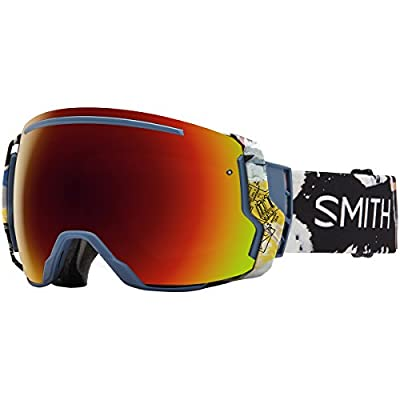 Smith Optics I/O 7 Adult Snowmobile Goggles Corsair Ripped / Red Sol-x Mirror
