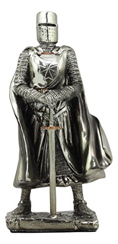 - Ebros Holy Roman Empire Caped Crusader Knight With Sword Statue 7