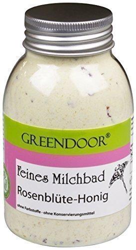 Greendoor Milchbad Rosenblüte-Honig 250ml aus der Naturkosmetik Manufaktur