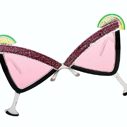 Wacky/Funny/Cocktail Party Eyeglasses for Birthdays/Events/Costume Party (Martini Glasses, 5)