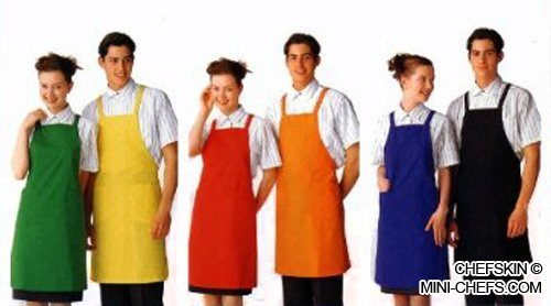 CHEFSKIN ADULT APRON WITH POCKET, POLYESTER FABRIC SUPER LIGHTWEIGHT AND COMFORTABLE (REGULAR ADULT, YELLOW) by CHEFSKIN