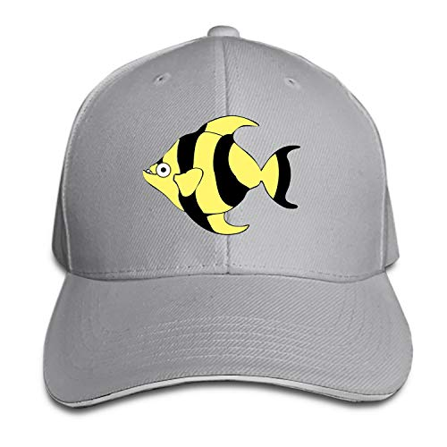 Peaked hat Clipart Cartoon Tropical Fish Printed Sandwich Baseball Cap for Unisex Adjustable -