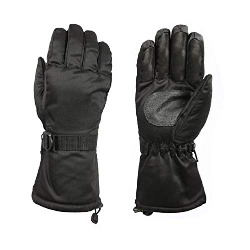 Black Extra Long Wrist Thermoblock Insulated Lined Winter Cold Weather Gloves