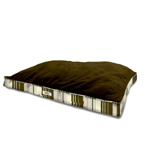 ASPCA Large Reversible Striped Ultra Plush Gusset Pet Bed fo
