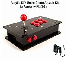 Raspberry Pi Acrylic DIY Retro Game Arcade Kit, Which Can Running the RetroPie Emulators, and You Can Just Download the Game's ROMs and Upload to it, and Make it a Arcade in Your Home.