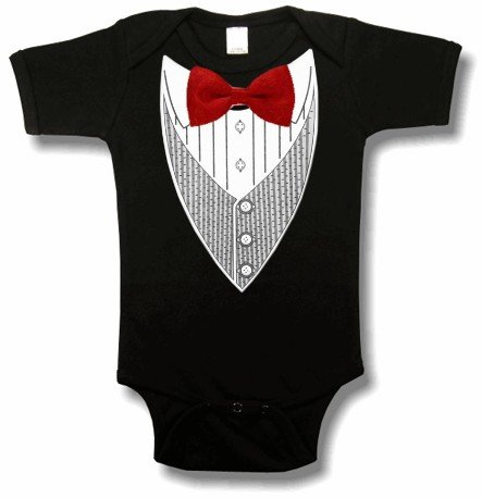 All Occasion Formal Tuxedo Infant Onesies (Black) #9