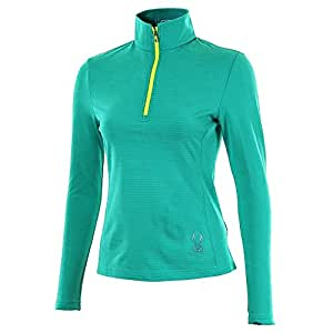Women's Flicker Therma Stretch T-Neck (Robins Egg/Bryte Yellow)