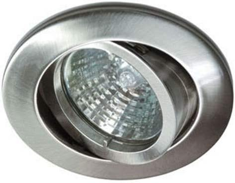 pivotant sans bagues Rutec installation projecteur rond alu5537-5 fer brossé