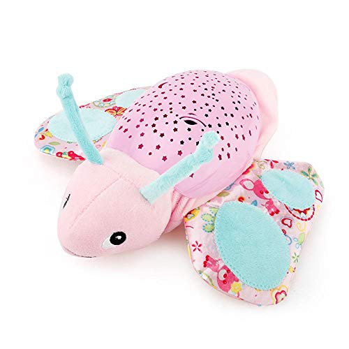 Aolvo Musical Projector, Projection Night Light Plush Animal Musical Toy with 60 Soothing Songs, Cute Plush Nightlight Projection for Infant Baby Slumber Buddies - ()