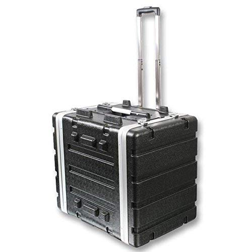 """Stackable ABS 19"""" Rack Flight Case - 8RU - with Pull Handle"""
