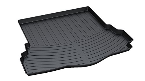 Vesul Rubber Rear Trunk Cover Cargo Liner Trunk Tray Carpet Floor Mat Fits on Ford Fusion 2013 2014 2015 2016 2017 2018 2019 - Trunk Ford