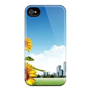 STWanke Case Cover Protector Specially Made For Iphone 4/4s Sunflower City