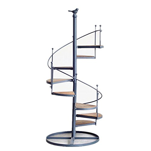 - Nordic Style Iron Spiral Stair Plant/Decor Stand Shelf Holds 8-Flower Pot