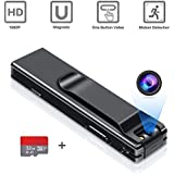 Camera no WiFi Needed - Mini Body Camera Video Recorder - Camera Motion Activated - Nanny Small Cam - Tiny Camera - Small Security Camera for Home and Office (with 32G Card)