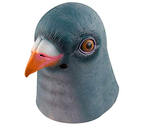 Gmasking Natural Latex Green Pigeon Mask Costume+Gmask Helmet Keychain