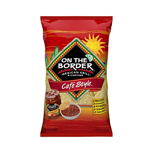 (On The Border Café Style Tortilla Chips, 12-Ounce Bag (Pack of 12))