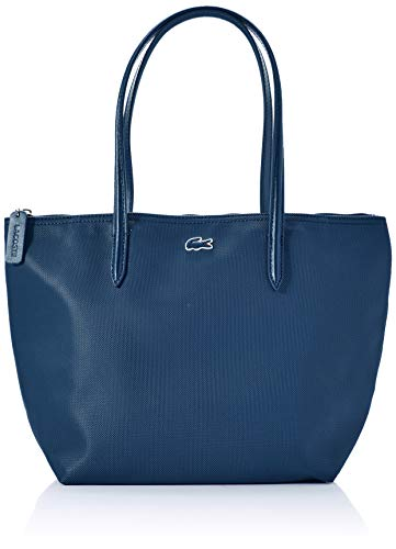 Lacoste - L.12.12 Concept, Shoppers y bolsos de hombro Mujer, Azul (Poseidon), 14x25x24 cm (W x H L)