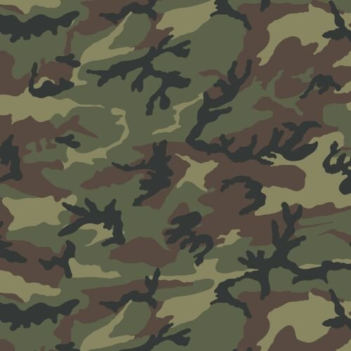 Siser EasyPatterns Heat Transfer Vinyl HTV for T-Shirts 18 by 12 Inches for Silhouette, Cricut, Brother (Camo Green) - Bounds Green Tube