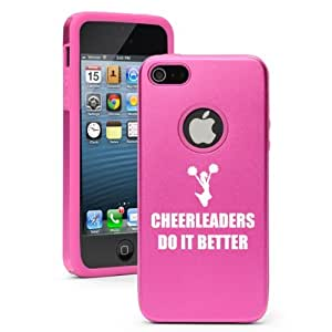 Apple iPhone 5c Hot Pink CD2272 Aluminum & Silicone Case Cover Cheerleaders Do It Better