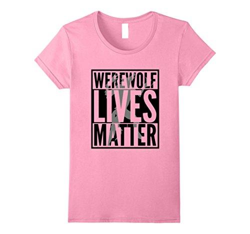 Womens Funny Halloween Costume Ideas 2017 Werewolf Shirt Medium Pink