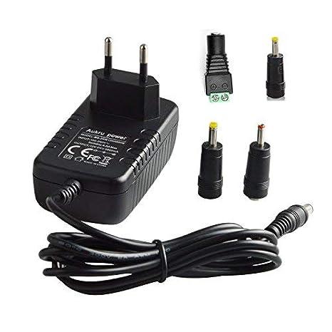 Aukru 12V 2A 24W Adaptador/Cargador Universal para LED Strip,Ordenador portátil, Impresora, escáner, Router, fax, TFT, LCD ect: Amazon.es: Electrónica