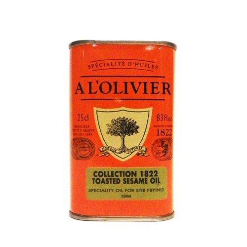 A L'Olivier Toasted Sesame Oil Tin 8.3oz