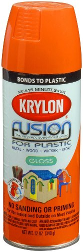 Paint Plastic Fenders - Krylon K02337007 'Fusion for Plastic' Pumpkin (Safety) Orange Plastic Paint - 12 oz. Aerosol