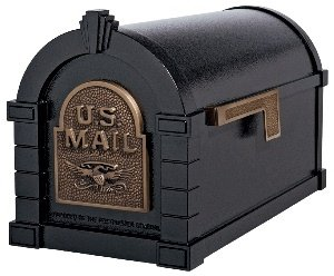 (Gaines KS-21A - Eagle Keystone Series Mailboxes - Black/Antique Bronze)