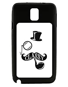 TooLoud Classy Tophat Mustache Pipe and Monocle Galaxy Note 3 Case