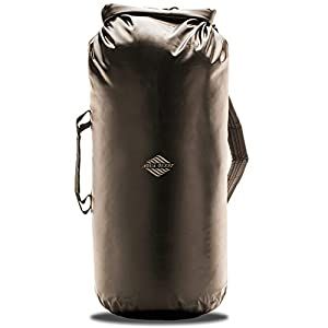 30L Waterproof Dry Bag Backpack - Aqua Quest Mariner 30 Black - Large Roll Top Day Pack with Adjustable fit for Men & Women