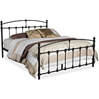 Wholesale Interiors Alissa Shabby Iron Metal Platform Bed, Queen, Dark Bronze