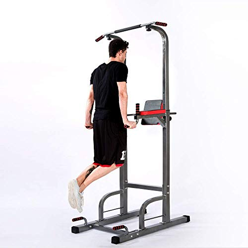 Lx Free Power Tower - Home Gym Adjustable Multi-Function Fitness Equipment Pull Up Bar Stand Workout Station (Best 20 Min Ab Workout)