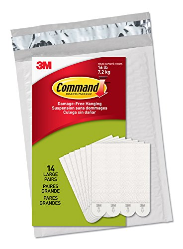 Command Damage-Free Large Picture Hanging Strips, Holds 16 lbs, Decorate Damage-Free, Create Gallery Walls, Indoor, 14 Pairs, Value Pack, Hangs 4-7 frames, Easy to Open Packaging (PH206-14NA)