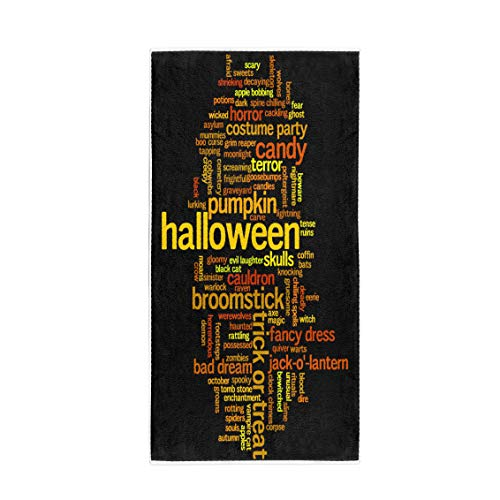 (Pinbeam Bath Towel Halloween Word Cloud on Related to Witch Trick Towel Beach)