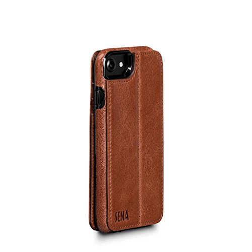 (Wallet Book Leather Folio Case for iPhone 8/7 / 6 (Cognac))
