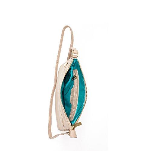 Body Cross SUSU Leather Purse Messenger Handbag Beige For Over Bag Crossbody Saxon Cross The Women Bags OgqwO0C