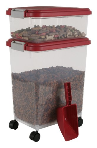 IRIS Airtight Pet Food Container Combo Kit Garnet RedGray
