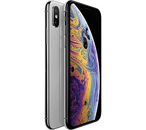 Apple iPhone XS Max, Fully Unlocked, 64 GB - Silver (Renewed)