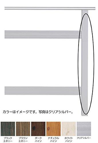タカショー エバーアートウッドデッキ手摺 H1100用柱 コーナー ブラウンエボニー B00MF0M6QE