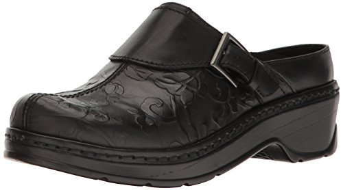 Austin Flower Back Clog Open Tool Black USA Women's Klogs 70qwEnB